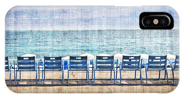 Beach Chair iPhone Case - La Promenade Des Anglais by Delphimages Photo Creations