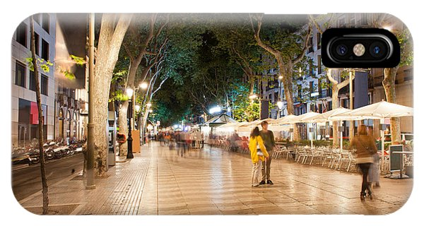 La Rambla At Night  In Barcelona IPhone Case