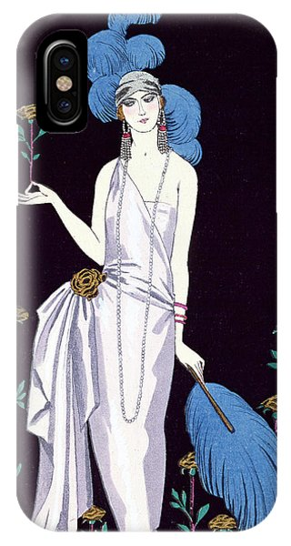 Ostrich iPhone Case - 'la Roseraie' Fashion Design For An Evening Dress By The House Of Worth by Georges Barbier
