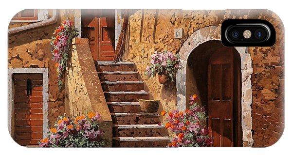 Steps iPhone Case - La Scalinata In Cortile by Guido Borelli