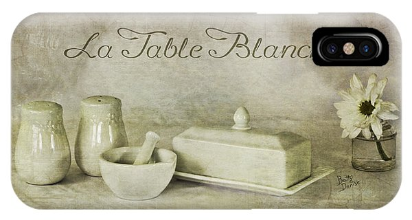 La Table Blanche - The White Table IPhone Case