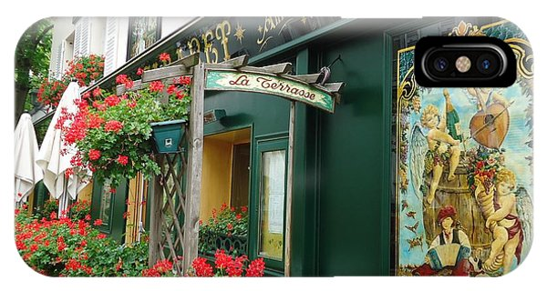 La Terrasse In Montmartre IPhone Case