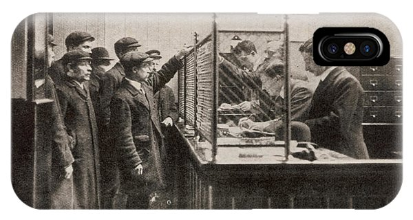 Labour Exchange At Camberwell Green Phone Case by  Illustrated London News Ltd/Mar