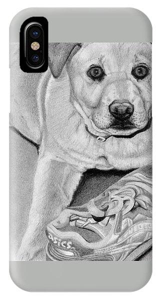 Sneaker Snatcher- Labrador And Chow Chowx Mix IPhone Case
