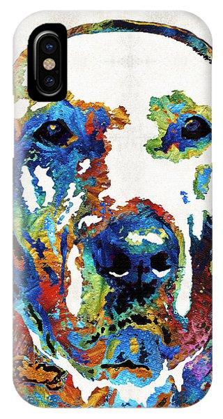 Retriever iPhone Case - Labrador Retriever Art - Play With Me - By Sharon Cummings by Sharon Cummings