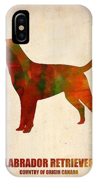 Retriever iPhone Case - Labrador Retriever Poster by Naxart Studio