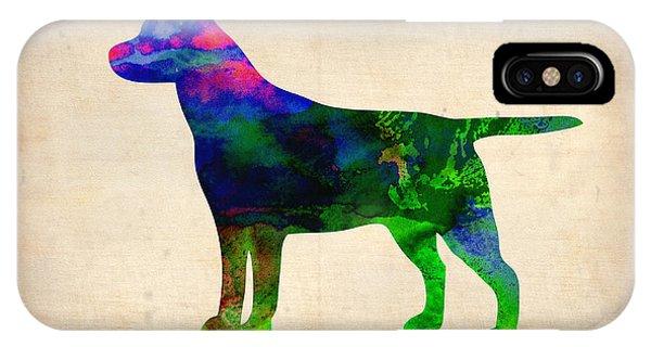 Retriever iPhone Case - Labrador Retriever Watercolor 2 by Naxart Studio