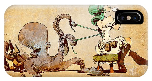 Girls iPhone Case - Lacing Up by Brian Kesinger