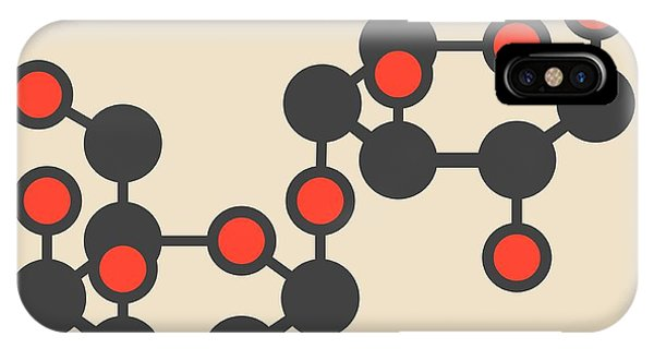 Lactose Milk Sugar Molecule Phone Case by Molekuul