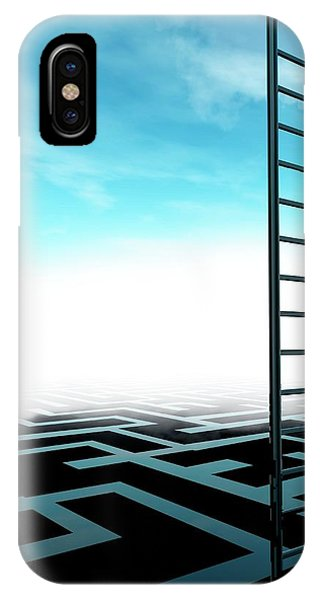 Ladder And Maze Phone Case by Victor Habbick Visions/science Photo Library