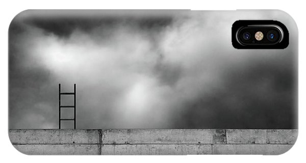 Cloud iPhone Case - Ladder And Wall... by Gilbert Claes