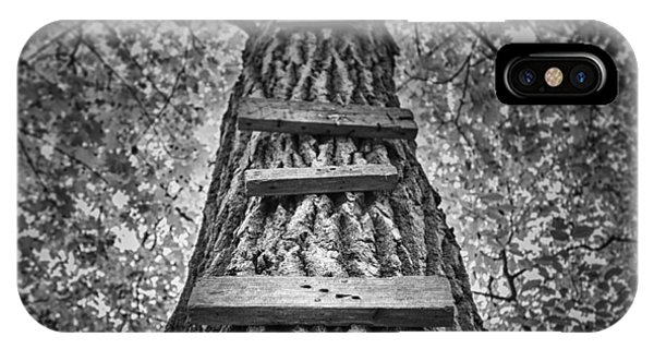 Monochrome iPhone Case - Ladder To The Treehouse by Scott Norris