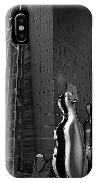 Ladders And Cello Cases Phone Case by Adrian Mendoza