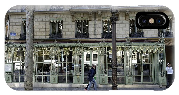 Laduree On The Champs De Elysees In Paris France  IPhone Case