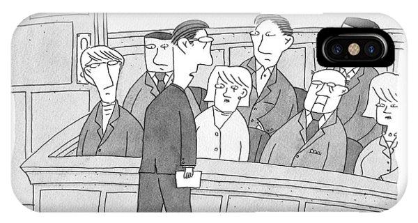 Trial iPhone Case - Ladies And Gentlemen Of The Jury by Peter C. Vey