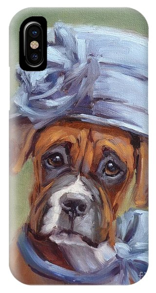 Lady Boxer With Blue Hat IPhone Case