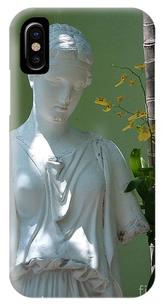 Lady In Garden IPhone Case