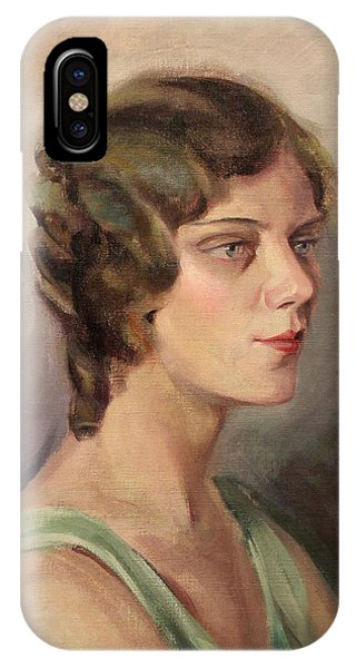Lady In Green 1929 IPhone Case