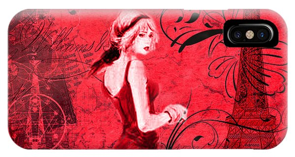 Lady In Paris IPhone Case