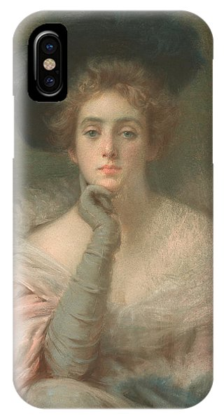 Girls In Pink iPhone Case - Lady In Pink by Joseph W Gies