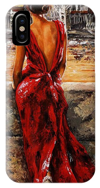 Back iPhone Case - Lady In Red  34 -  I Love Budapest by Emerico Imre Toth