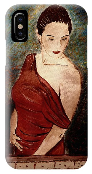 Lady In Red IPhone Case