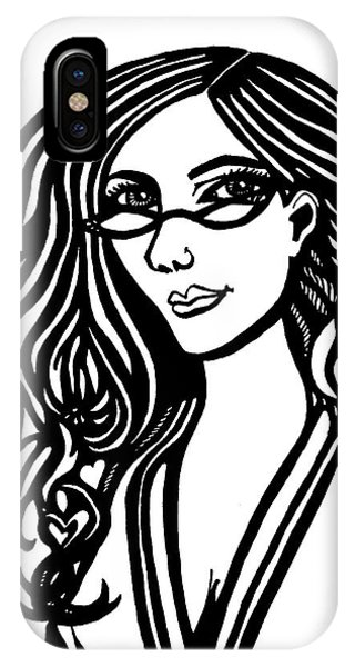 Lady In Thought IPhone Case