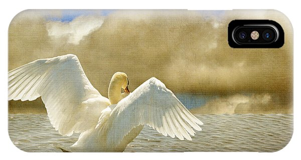Swan iPhone Case - Lady-in-waiting by Lois Bryan