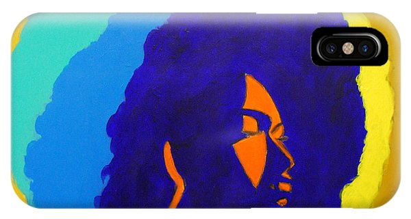 Lady Indigo IPhone Case