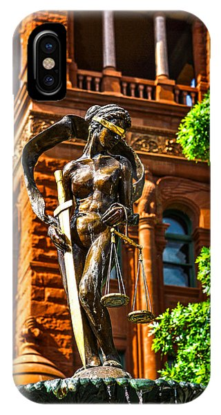 Lady Justice Fountain Phone Case by Greg Sharpe