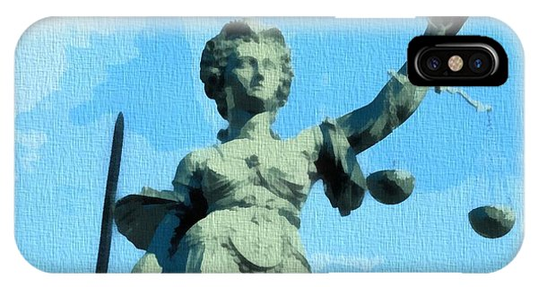 Courthouse iPhone Case - Lady Justice Pop Art by Dan Sproul