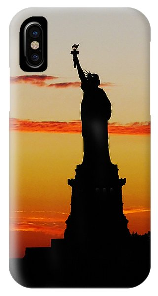 Lady Liberty At Sunset IPhone Case