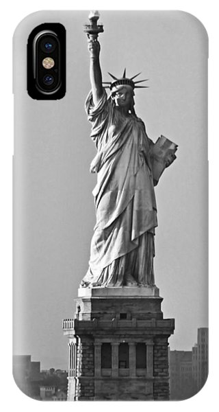 Lady Liberty Black And White IPhone Case