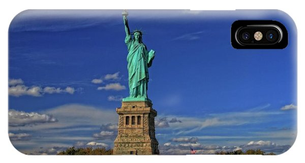Battery D iPhone Case - Lady Liberty In New York City by Dan Sproul