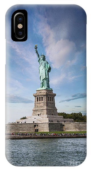 Statue Of Liberty iPhone Case - Lady Liberty by Juli Scalzi