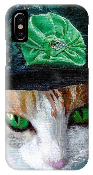 Lady Little Girl Cats In Hats IPhone Case