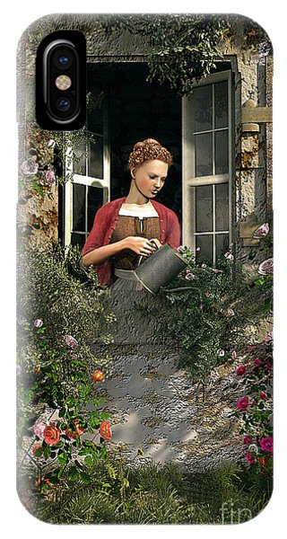 Poppies iPhone Case - Lady Window by MGL Meiklejohn Graphics Licensing