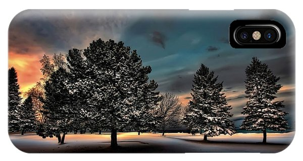 Lady Winter  Bringing A Cold Snap IPhone Case