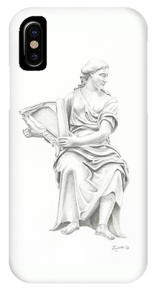 Lady With Harp II IPhone Case