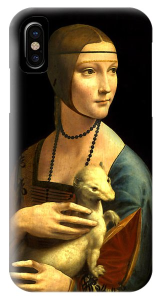 Lady With The Ermine Reproduction IPhone Case