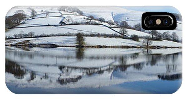 Ladybower Winter Panorama IPhone Case