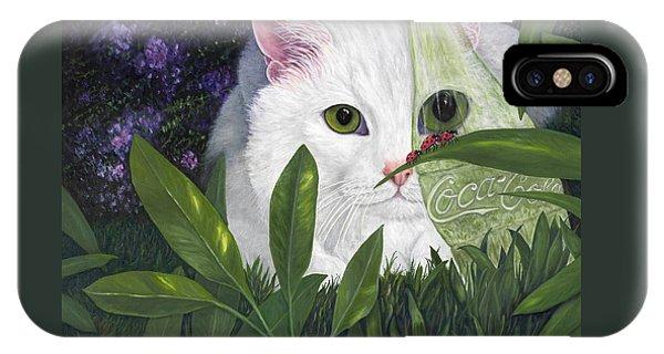 Ladybugs And Cat IPhone Case
