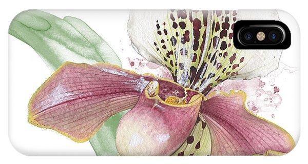 Ladys Slipper - Orchid 14 - Elena Yakubovich IPhone Case