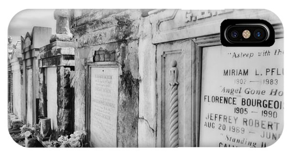 Lafayette Cemetery Black And White IPhone Case