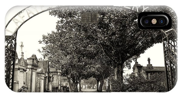 Lafeyette Cemetery No. 1 Sepia IPhone Case