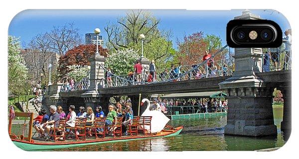iPhone Case - Lagoon Bridge And Swan Boat by Barbara McDevitt