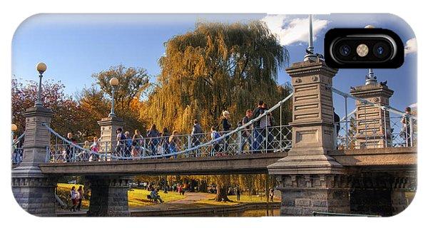 Lagoon Bridge In Autumn IPhone Case