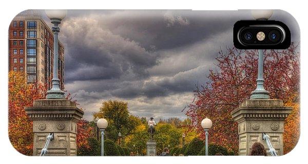 Lagoon Bridge In Boston Public Garden IPhone Case
