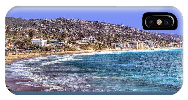 Laguna Beach Coast Panoramic IPhone Case