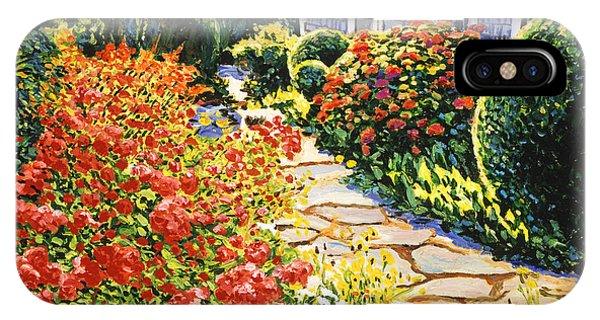 Laguna Beach iPhone Case - Laguna Beach House Garden by David Lloyd Glover